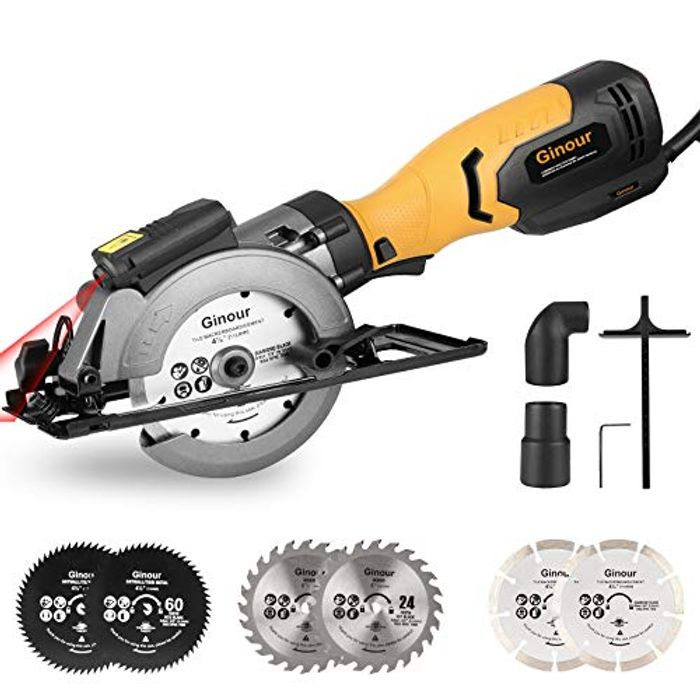 3600RPM Mini Electric Circular Saw with Laser