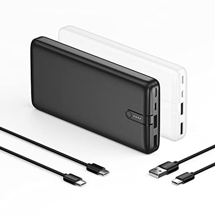 IEsafy 2-Pack Portable Charger Fast Charging Power Bank - Only £15.49!
