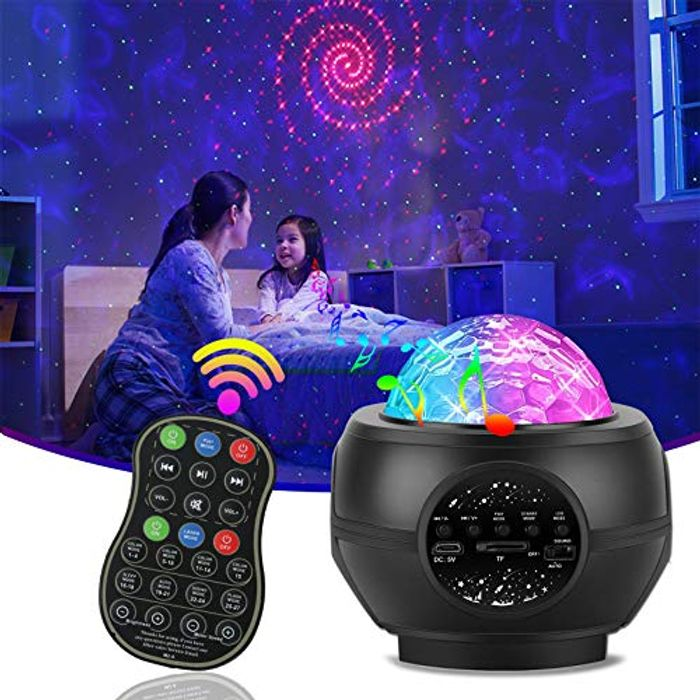 Deal Stack! LED Star Projector Night Light with BT Music Speaker