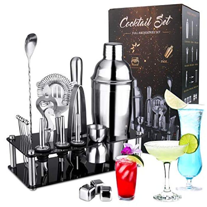 30% off Voucher for 750ml 21 Pcs Cocktail Shaker Set