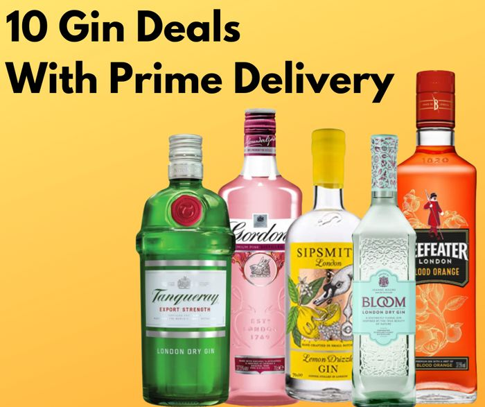 Top 10 Gin Deals with Prime Delivery at Amazon