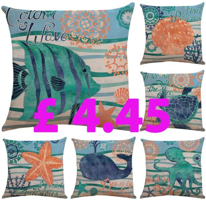 6 Pcs Decorative Soft Cotton Linen Cushion Covers, ( FREE click and collect)