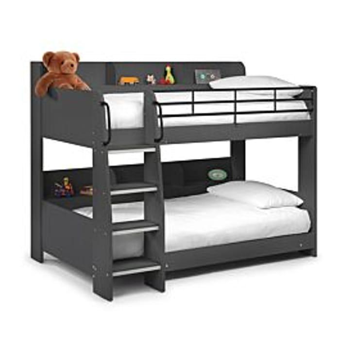 *SAVE £130* Julian Bowen Domino Bunk Bed Anthracite