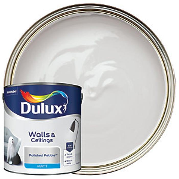 Dulux - Polished Pebble - Matt Emulsion Paint 2.5L