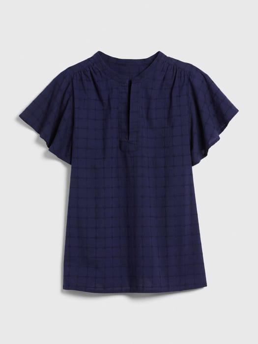 Short Sleeve Popover Top