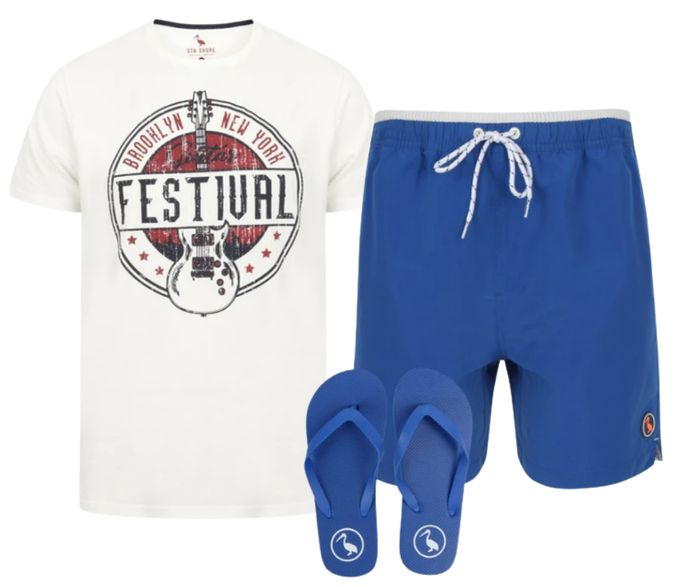 Tokyo Laundry Shorts & Flip Flops + Free T-Shirt with Code