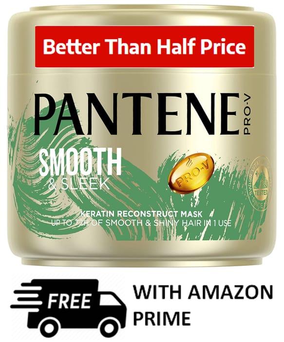 Pantene Smooth and Sleek Hair Mask 300ml **4.7 STARS**