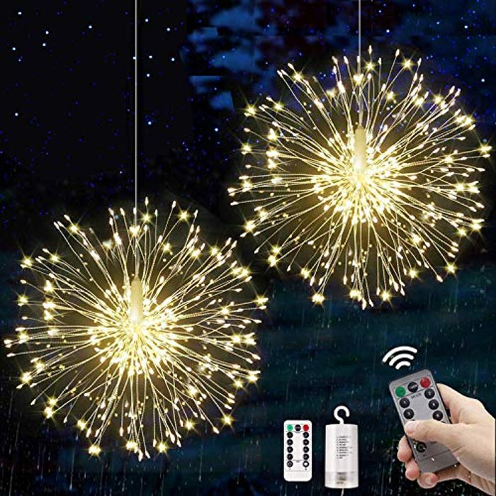 Firework Lights LED Starburst Lights, 120 LED Fairy String Hanging Christmas