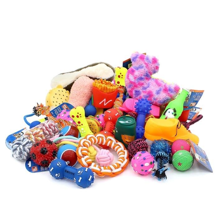 12 Piece Assorted Dog Toy Bundle