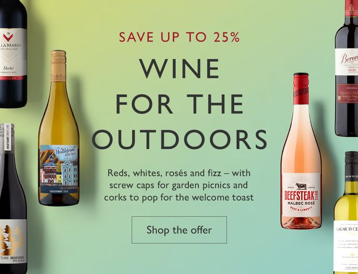 Up to 25% off Wines for Spring