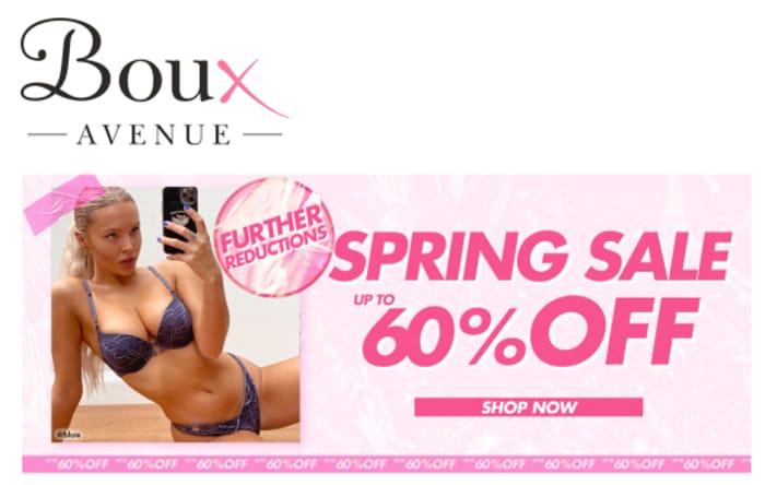 Boux Avenue SPRING SALE - Lingerie, Nightwear, Swimwear - up to 60% OFF