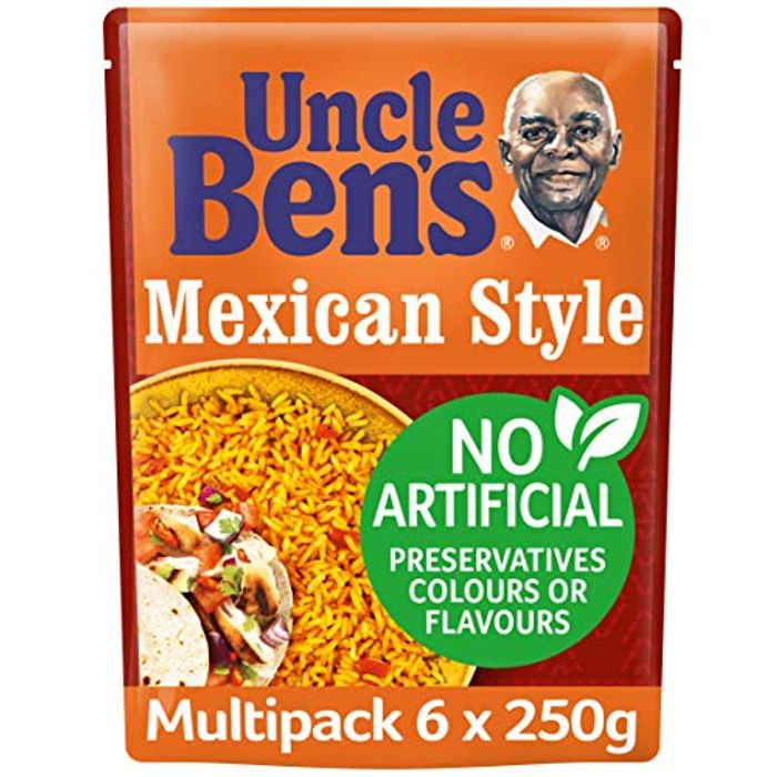 Uncle Bens Mexican Style Microwave Rice, Bulk Multipack 6 X 250 G Pouches