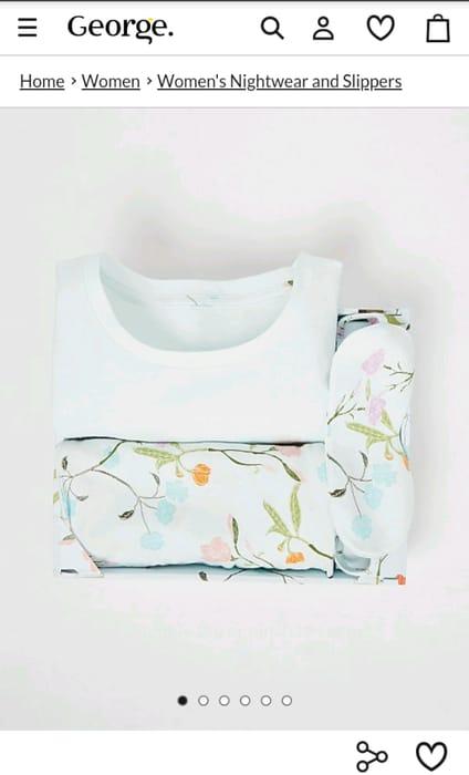 Pale Blue Floral Women's Pyjamas