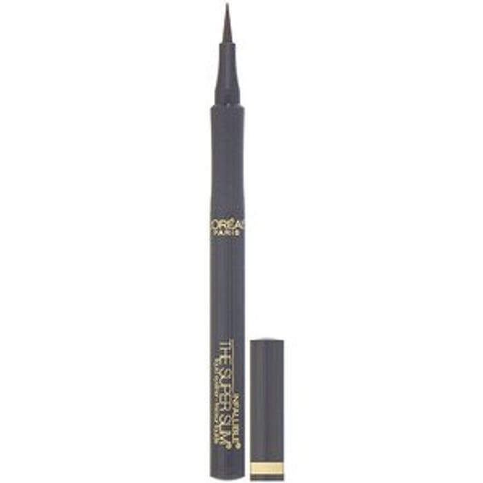 L'Oreal, Infallible Super Slim Liquid Eyeliner, 402 Grey, 0.034 Fl Oz (1 Ml)