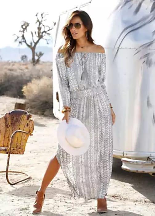 LASCANA Print Maxi Dress (Size 10)
