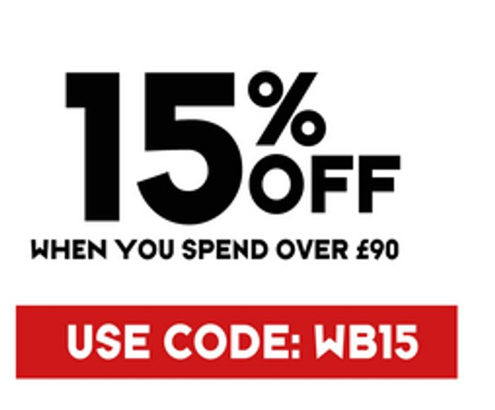 15% off When You Spend over £90