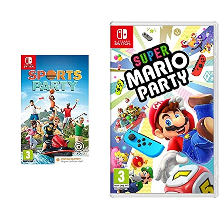 Super Mario Party + Sports Party (Code in Box) (Nintendo Switch)