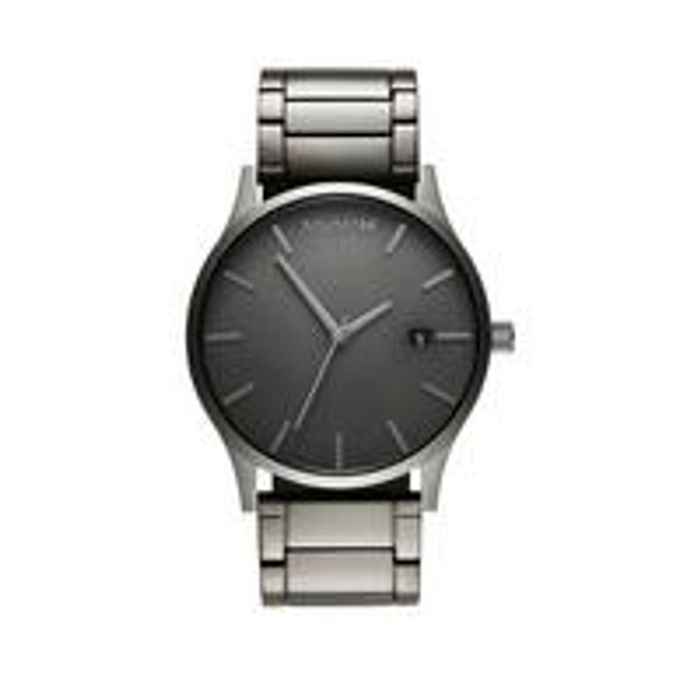 MVMT Classic Grey Date Dial Gunmetal IP Stainless Steel Bracelet Mens Watch