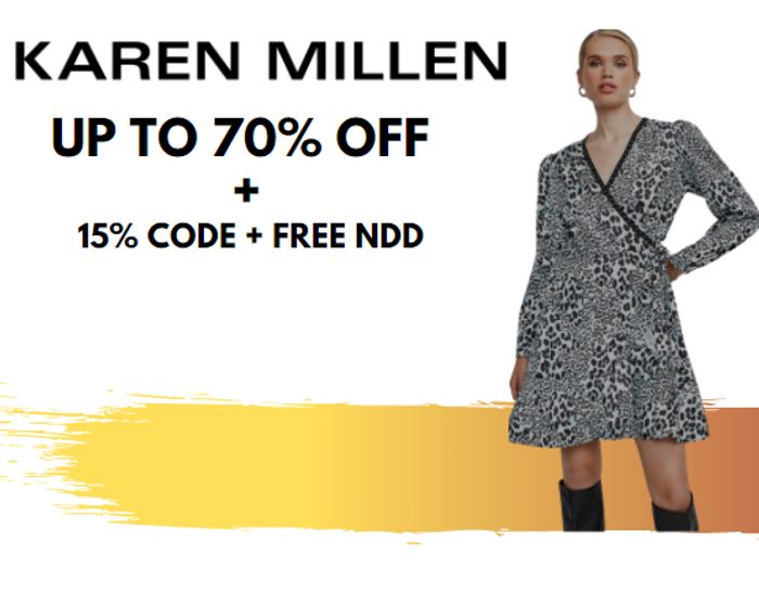 Karen Millen - Up To 70% Sale + Extra 15% Code & Free Next Day Delivery!