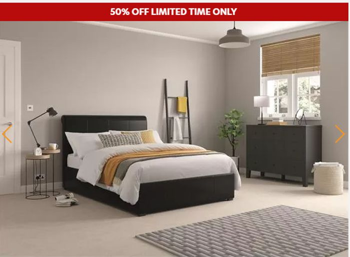 Bank Holiday Sale Up To 50% Off Beds & Mattresses + 4 Free Pillows & Free Del