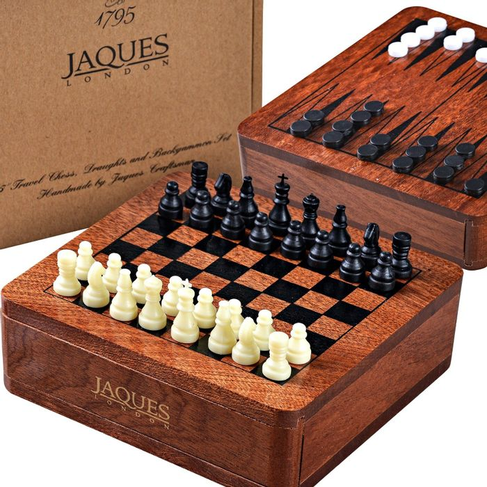 Chess Draughts and Backgammon Set - Travel Chess