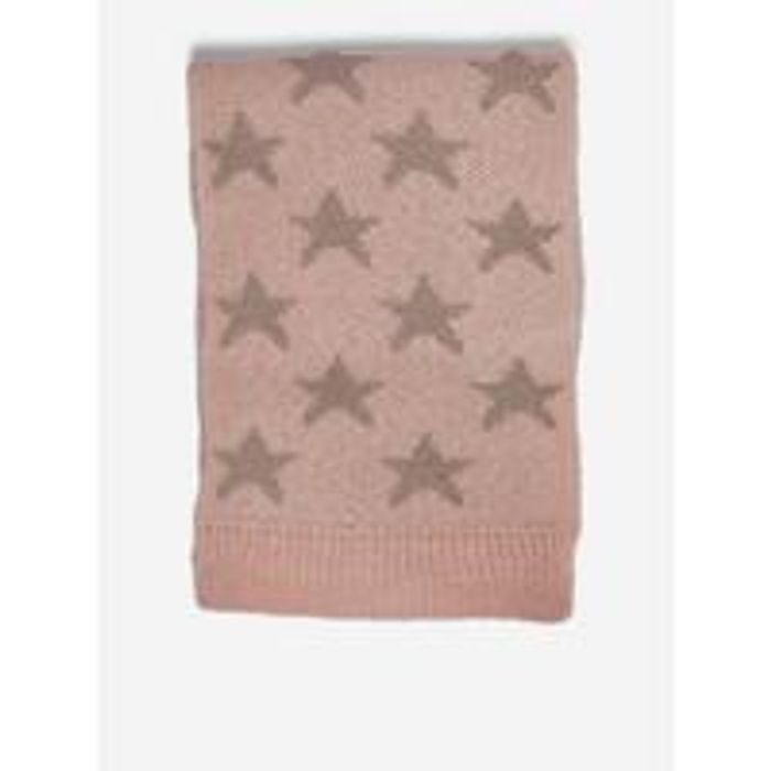 Dorothy Perkins Knitted Star Lurex Scarf - Blush