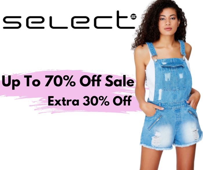 Select Fashion Up to 70% off Sale + Extra 30% off Code