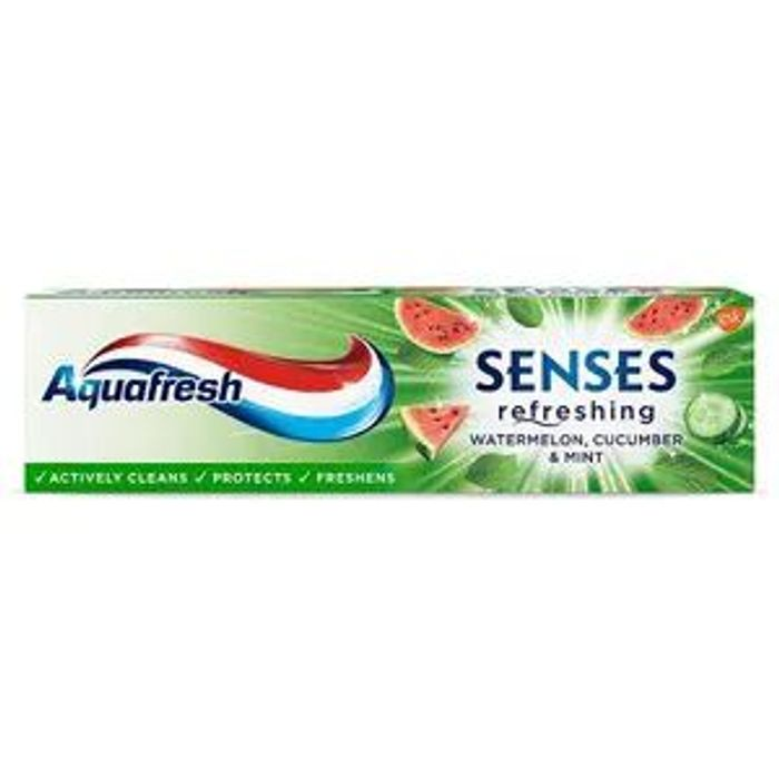 CHEAP! Aquafresh Senses Watermelon, Cucumber & Mint Toothpaste