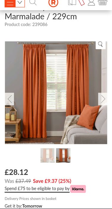 Taupe Marmalade Curtains at The Range