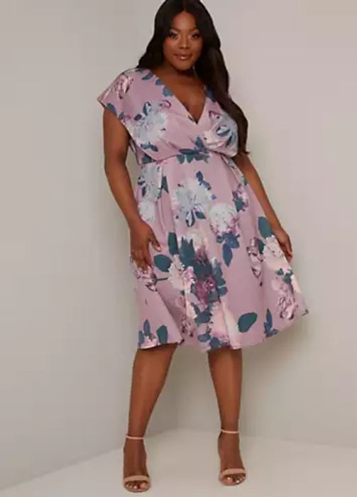Chi Chi London Curve Drew Floral Dress (Size 24)