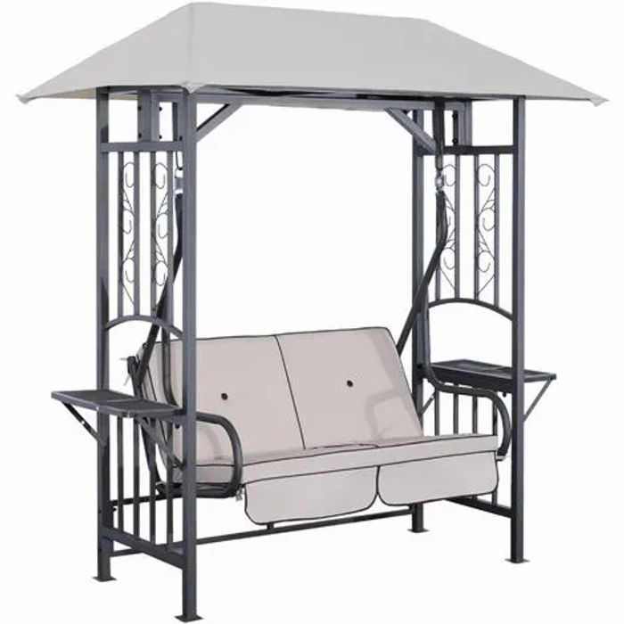 2 Seater Swing Chair Hammock Bench Cushioned Seat