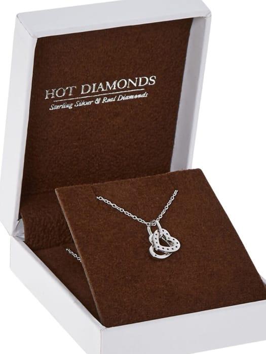 HOT DIAMONDS Sterling Silver White Topaz Pendant Necklace