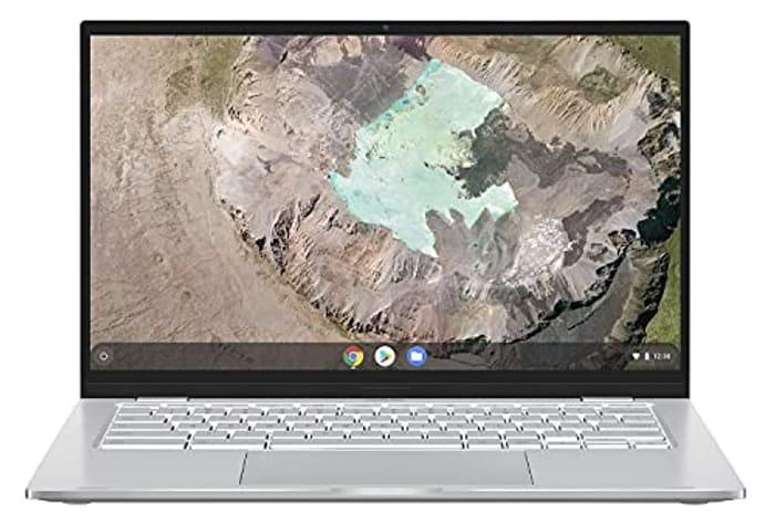 ASUS 14 Inch Chromebook Full HD Laptop (Intel Core M3-8100Y, 4GB RAM, 64GB eMMC