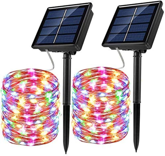 Price Drop! Solar String Lights, 2 Pack 100 LED