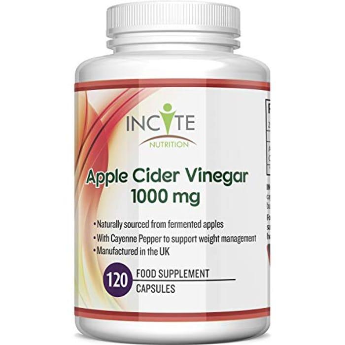 Save 30% on High Strength Apple Cider Vinegar Capsules 1000mg