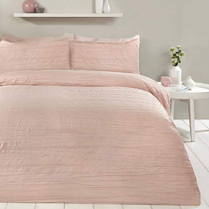 Sleepdown Super Soft Pink Luxury Duvet Cover- Super King