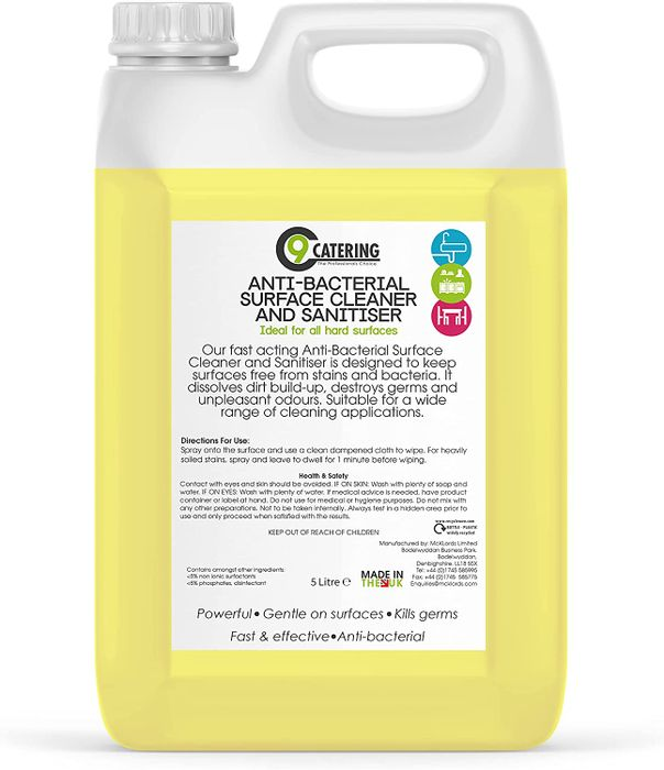 Anti Bacterial Surface Cleaner and Sanitiser - 5L