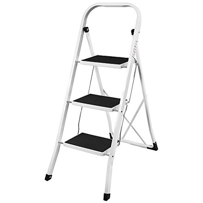 Home Vida 3 Step Ladder, Heavy Duty Steel
