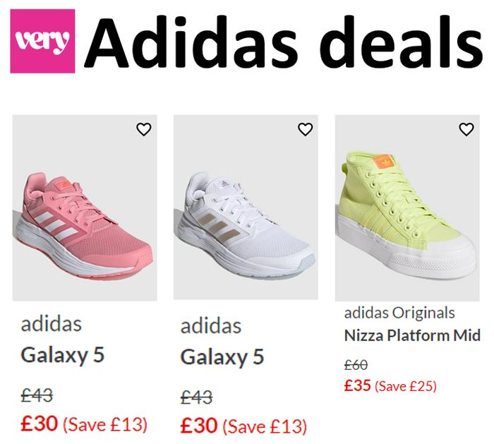 Adidas Trainers - GOOD DEALS AT VERY! From £30