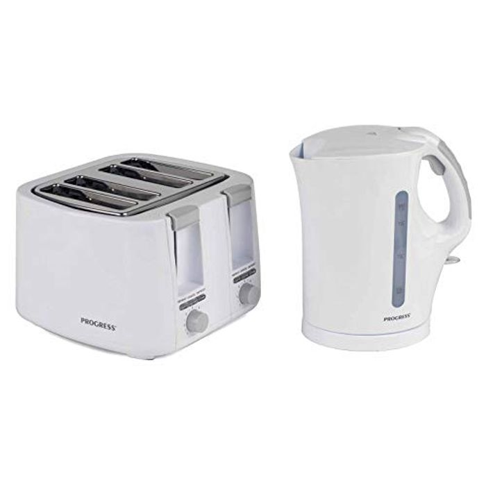 Progress COMBO-3654 1.7 Litre Immersed Kettle with Four Slice Toaster