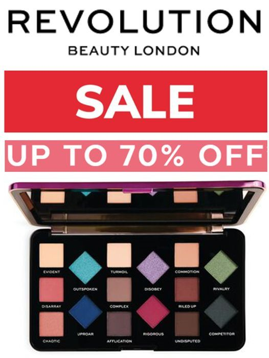REVOLUTION BEAUTY SALE - up to 70% OFF