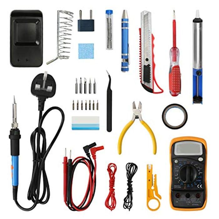 Deal Stack! Aceshop Soldering Iron Kit 19PCS Kit