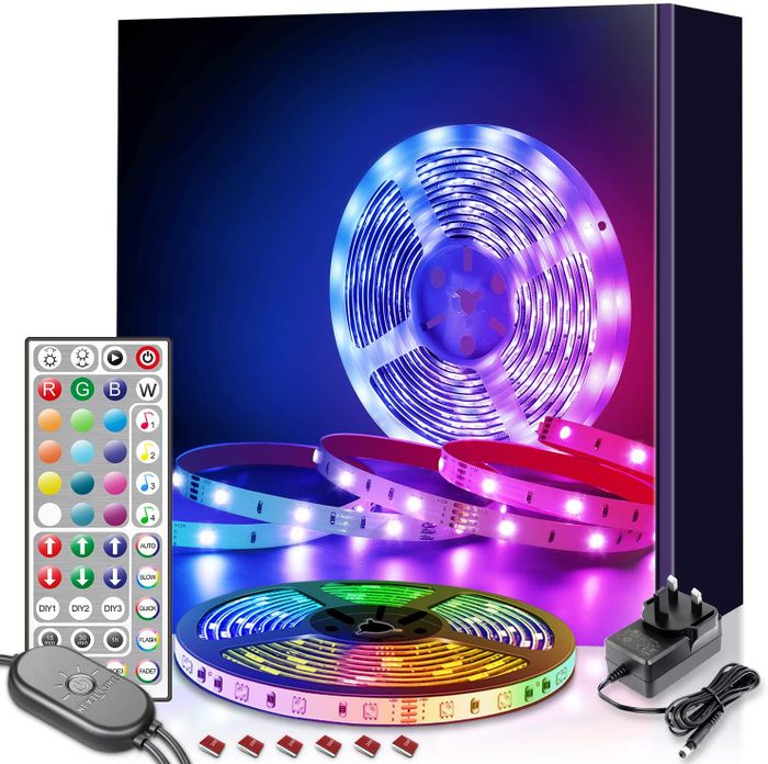 6M LED Strip Lights with Remote Music Sync, Color Changing