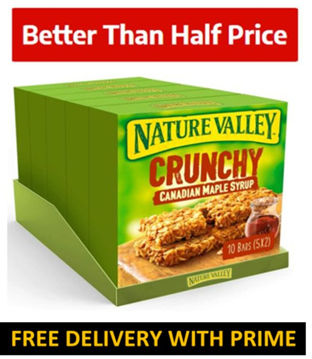 Nature Valley Crunchy Canadian Maple Syrup Cereal Bars (25 Bars)