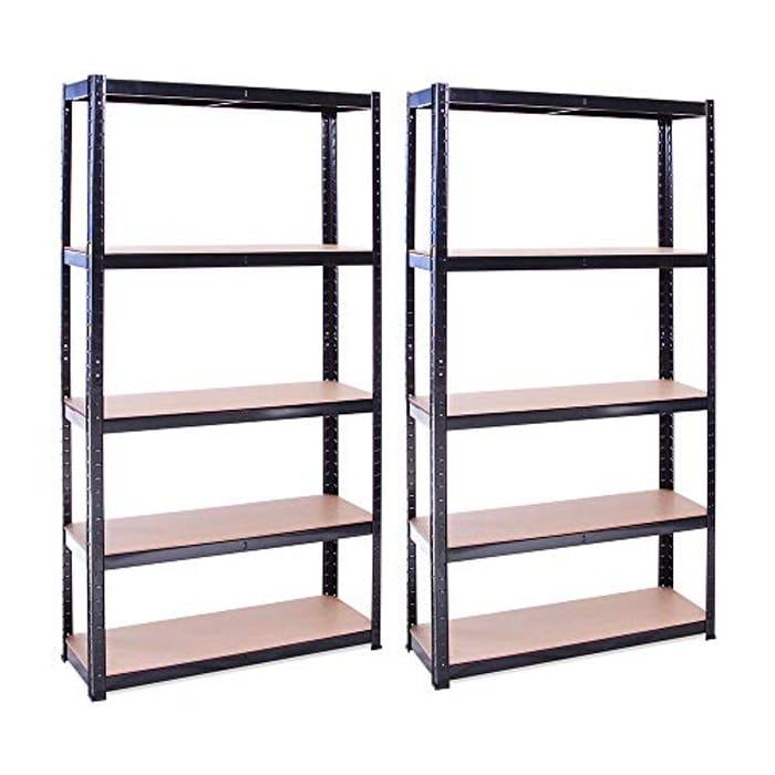Garage Shelving Units: 180cm X 90cm X 30cm Racking Shelves for Storage