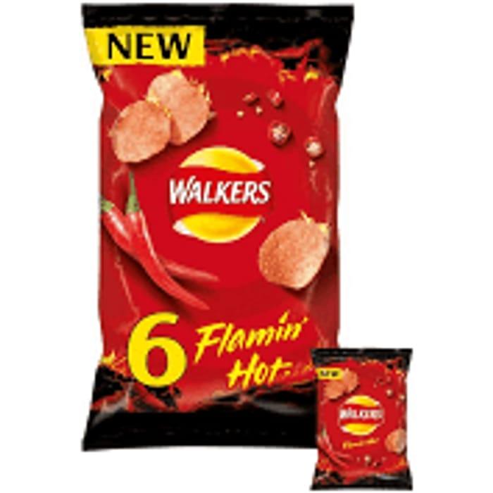 Walkers Flamin Hot Multipack Crisps 6x25g - £1.00 at Asda