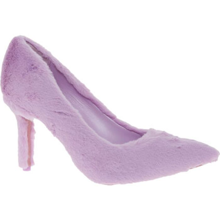 KATY PERRY Pink Faux Fur Heel