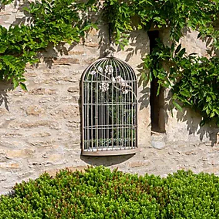 Stunning Garden Birdcage Outdoor Mirror