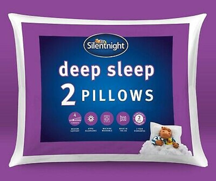 Silentnight Deep Sleep Pillows Two 2 Pack Soft