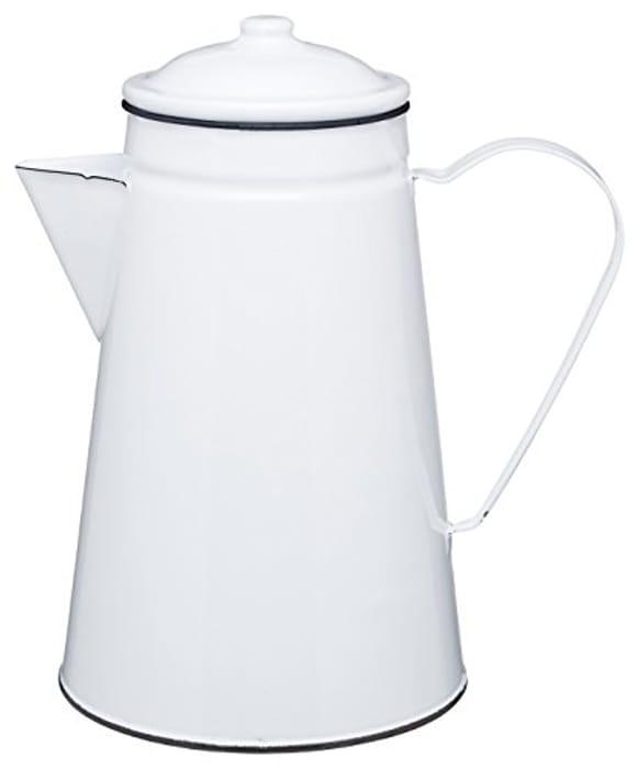 KitchenCraft Living Nostalgia Enamel Coffee Pot / Serving Jug / Vase, 1.5 L